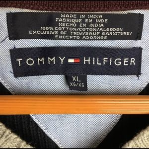 Tommy Hilfiger Sweaters - Tommy Hilfiger Mens Navy Cable Knit Sweater Vneck